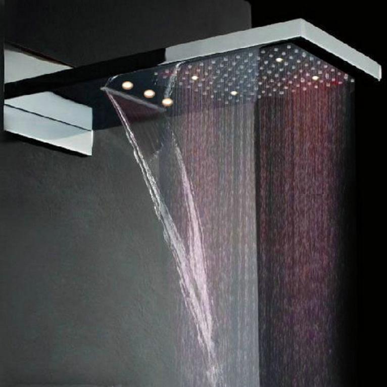 22 inch LED Regendouche waterval douche inbouw incl. handdouche