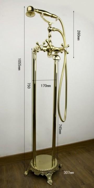 Luxe gouden vrijstaande badkamer kraan type sofi design badkraan gouden kranen watervalkraan - Badkamer design kraan ...