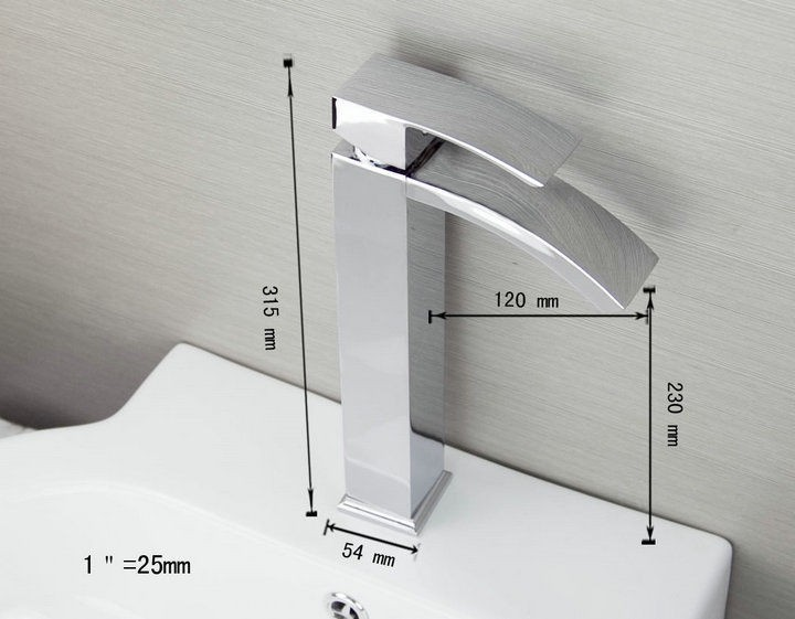 Badkamer kraan tos chroom wastafelkraan design kraan sanitair