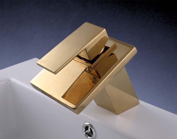 Watervalkraan Carice Goud Deluxe Design Kraan
