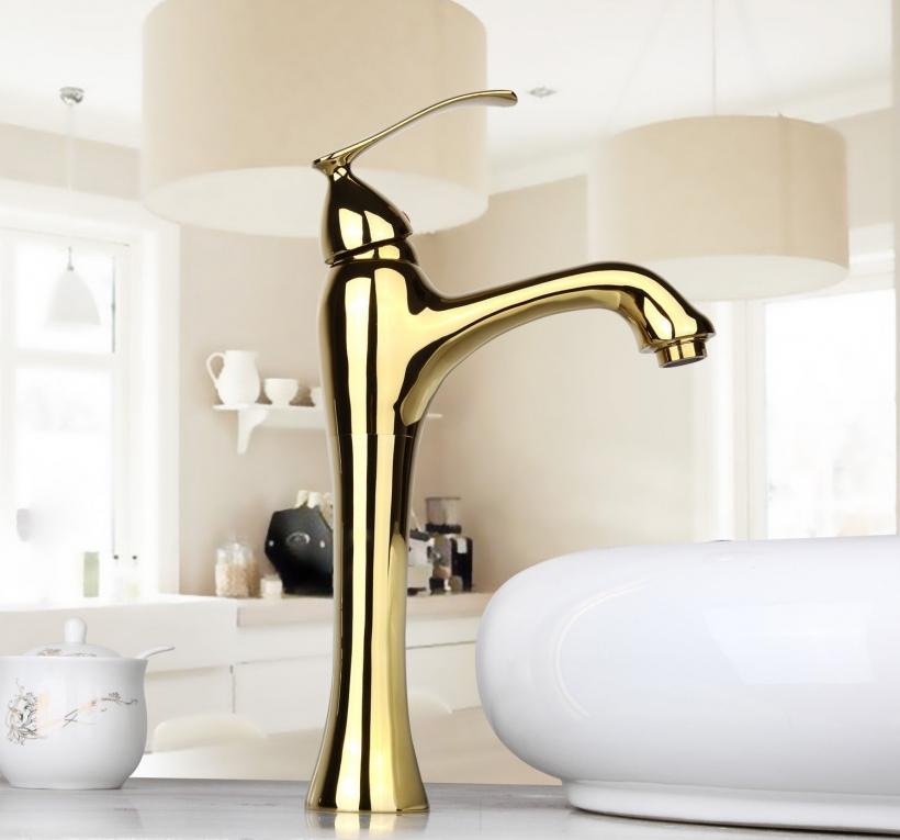 Badkamer Kraan Kopen.Gouden Wastafelkraan Type Jin Deluxe Desing Badkamerkraan Gouden