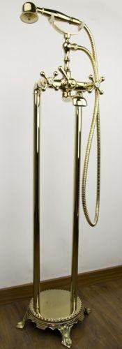 Luxe gouden vrijstaande badkamer kraan type Sofi design badkraan
