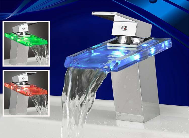 Watervalkraan Daphne Led Design Kraan