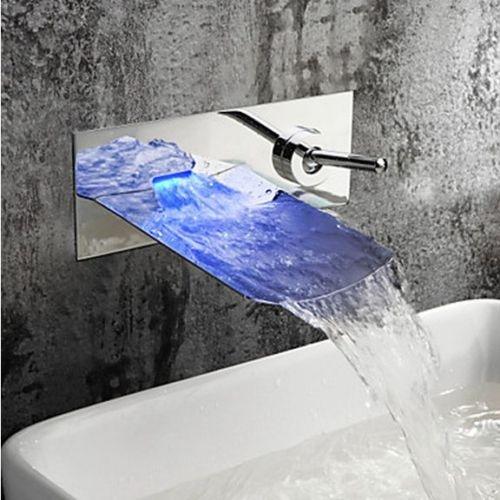 Watervalkraan Muro LED inbouw Design Watervalkraan