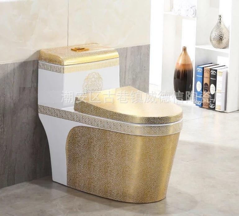 Gouden Keramiek WC-pot goudkleurig toilet