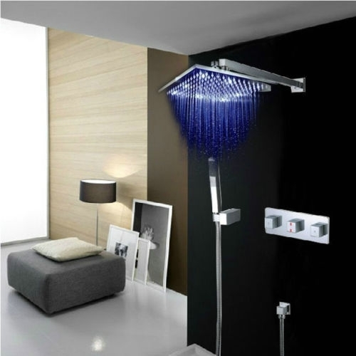 LED douche set 300 MM Inbouw mengkraan Stortdouche