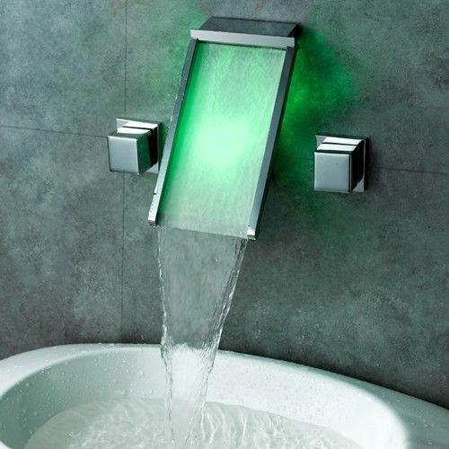 Waterval LED Badkraan Chiaro Design Led badkraan