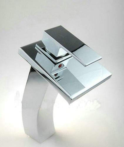 Watervalkraan Carice Zilver XL Design Waterval Kraan