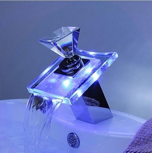 Watervalkraan Diamant Led Design Kraan