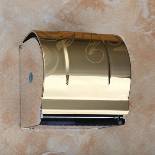 Gouden WC rol houder Goudkleurige design toiletpapier houder